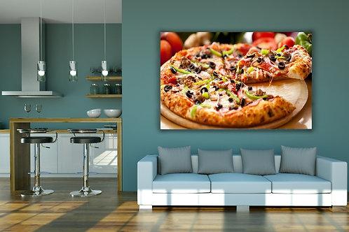 varanda gourmet,fotografia,cozinha,Alimento,Pizza,Pizzaria,Colorido,sala,jantar,quadro,poster,gravura,canvas,foto,tela