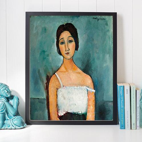 Amedeo Modigliani,Christina,quadro,canvas,poster,replica,gravura,reprodução,canvas,fototela,tela,pintura,religioso