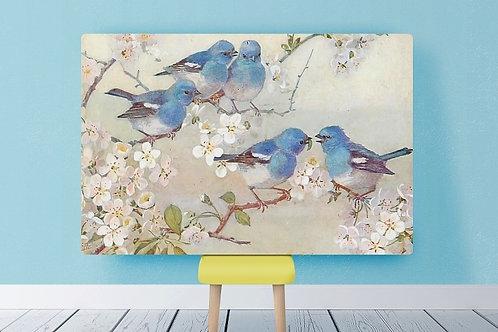 pássaros azuis, passarinhos azuis, pássaro, azul, quadro, poster, gravura, reprodução, canvas, replica, tela