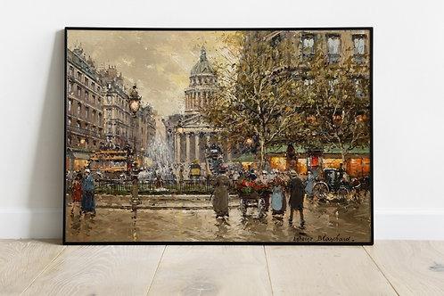 antoine blanchard, praça luxemburgo,quadro de paris,cidade, paris, quadro, poster, replica, gravura, reprodução, canvas, tela