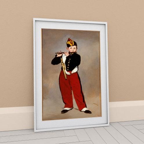 edouard Manet, Jovem Flautista, O Tocador de Pífaro, The Fifer, quadro, poster, gravura, canvas, replica, reprodução, releitu