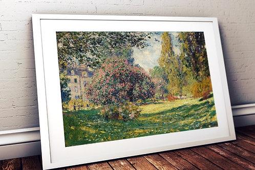 monet, Paisagem, O Parque Monceau, quadro, poster, gravura, canvas, replica, reprodução, fototela,tela,pintura