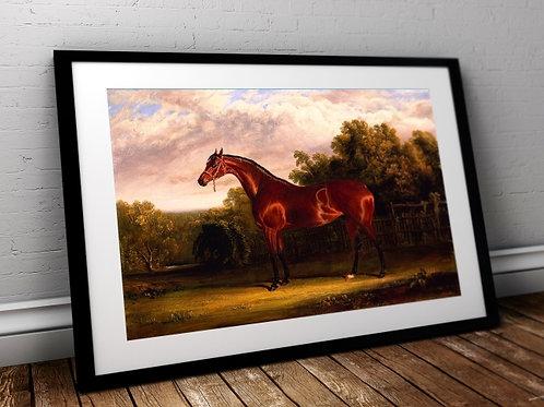 John Frederick Herring,Cavalo na Paisagem, cavalo, quadro, poster, gravura, reprodução, canvas, replica, fototela, foto tela