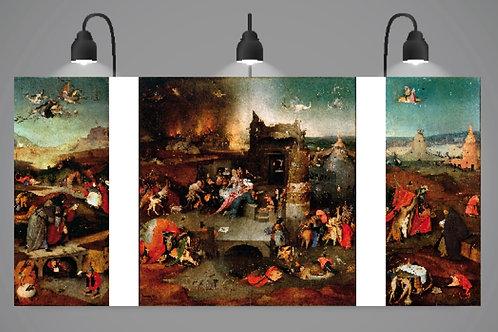 Hieronymus Bosch,As Tentações de Santo Antão ,quadro,poster,gravura,canvas,replica,reprodução,fototela,tela,pintura