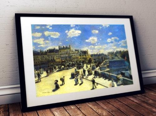 Renoir, ponte Neuf, Pont Neuf, Paris, quadro, poster, gravura, replica, reprodução, canvas