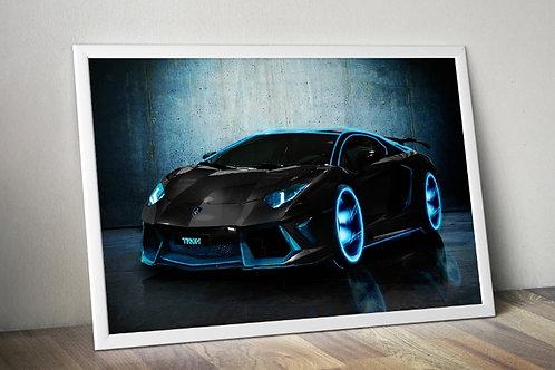 Automóvel,Carro,Corrida,Luxo,lamborghini aventador,quadro,poster,gravura,reprodução,réplica,canvas,tela,pintura,fine art