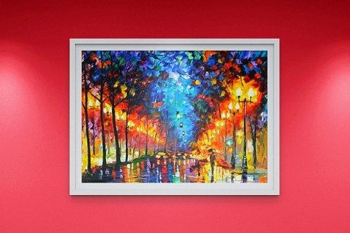 Quadro Colorido Espatulado decorativo, quadro, poster, replica, gravura, canvas, reprodução, tela, releitura