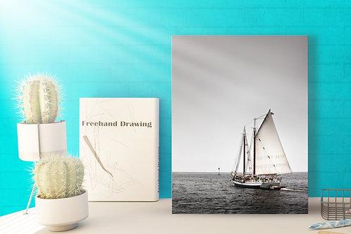Veleiro,Mar,preto e branco,fotografia,paisagem,poster,gravura,reprodução,réplica,canvas,tela,pintura,fine art,fototela