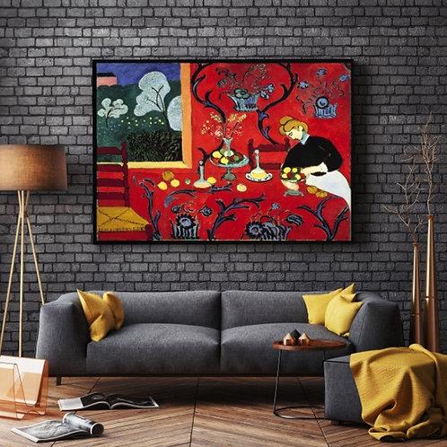 Matisse,Harmonia em Vermelho,The Dessert,Harmony in Red,quadro,poster,réplica,canvas,gravura,reprodução,tela,fototela,pintura