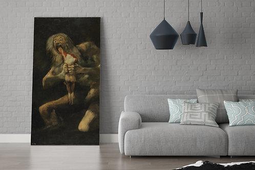 Goya,Saturno Devorando seu Filho,quadro,poster,replica,gravura,canvas,reprodução,tela
