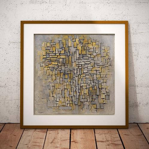 Mondrian, Composição VII, composition VII, nº7, quadro, poster, replica, gravura, reprodução, canvas, fototela, cópia, tela