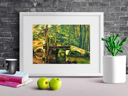 cezanne, Ponte Maincy, quadro, poster, gravura, reprodução, canvas, replica, releitura, tela