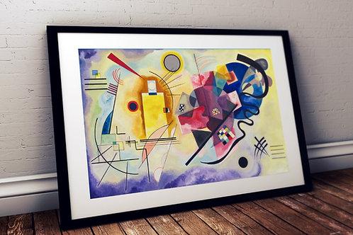 wassily kandinsky, Amarelo Vermelho Azul, Yellow red blue, poster, gravura, reprodução, canvas, replica, releitura
