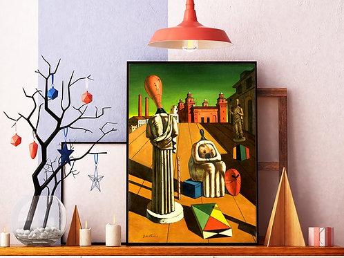 Giorgio de Chirico,As Musas Inquietantes,quadro,reprodução,poster,canvas,gravura,replica,fototela,tela,pintura,releitura