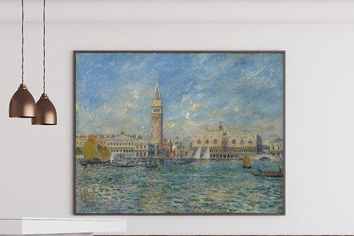 Renoir,O Palácio do Doge, Veneza,quadro,poster,replica,canvas,gravura,reprodução,tela,fototela,pintura