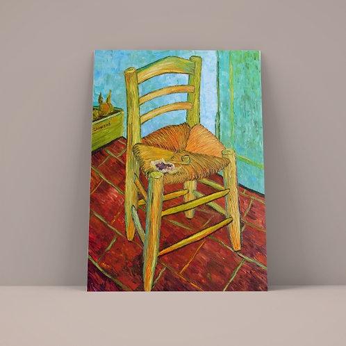 vincent, Van Gogh, A Cadeira de Van Gogh com Cachimbo, Chair with his pipe, poster, gravura, reprodução, canvas, replica