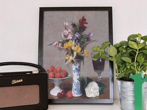 Henri Fantin Latour, Still Life Betrothal, quadro, poster, replica, canvas, gravura, reprodução, tela, fototela, releitura