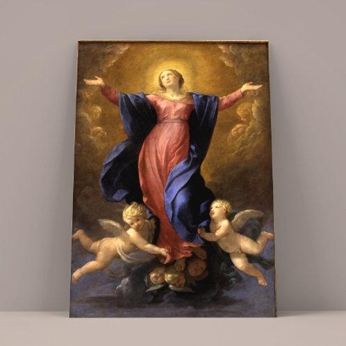 Guido Reni, Assunção da Virgem,quadro, poster, replica, canvas, gravura, reprodução, tela,releitura, fototela