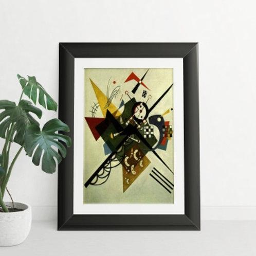 kandinsky, No branco II, On White II, poster, gravura, reprodução, canvas, replica, releitura