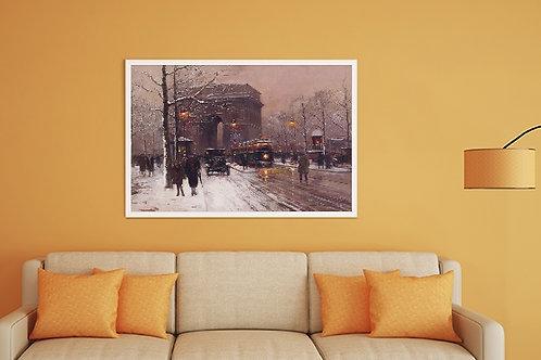 Edouard-Léon Cortès, Arco do Triunfo, paris, quadros de Paris, poster de Paris, gravura de Paris, réplica, reprodução, canvas
