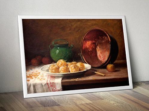 Pedro Alexandrino,Composição,Tacho,cobre,artista,brasil,quadro,poster,gravura,canvas,replica,reprodução,fototela,tela,pintura