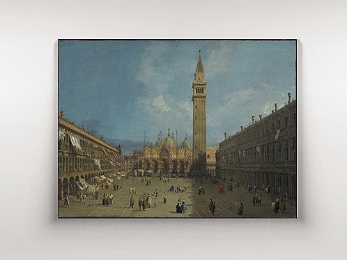 Canaletto praça São Marcos, canaletto piazza san marco, quadro, poster, gravura, replica, canvas, reprodução, tela, pintura