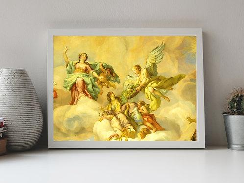 Assunção da Virgem,ascensão,religiosos,quadro,reprodução,poster,canvas,gravura,replica,fototela,tela,pintura,releitura