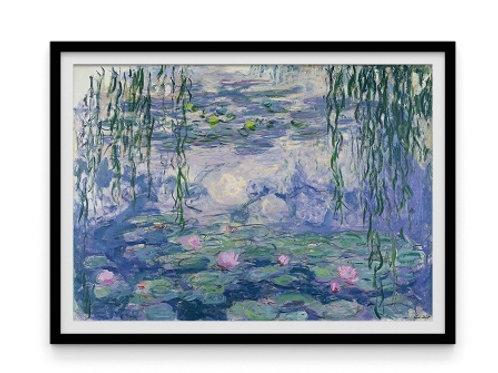 claude monet, Ninfeias no Jardim de Monet, nenufares, lírio d' água, quadro, poster, replica, canvas, reprodução,gravura,tela