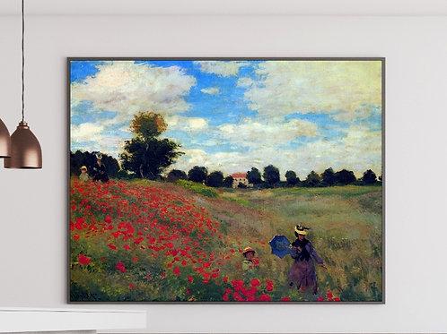 Monet, As Amapolas em Argenteuil, Campo de Papoulas, argenteuil
