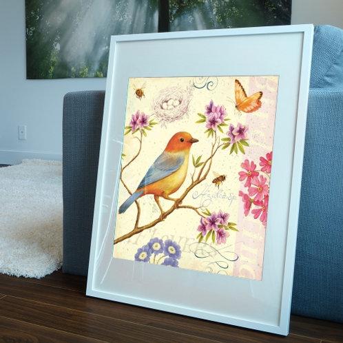passarinho, pássaro, quadro de pássaro, poster passarinho,tela decorativa, quadro, poster, gravura, reprodução,canvas,replica