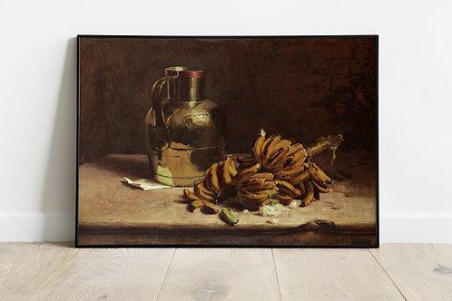 Pedro Alexandrino, Bananas e Metal,artista,brasil,quadro, poster, gravura, canvas, replica, reprodução, fototela,tela,pintura