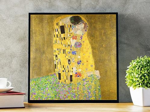 gustav klimt, o beijo, the kiss, quadro, poster, gravura, replica, canvas, reprodução, gravura, tela, releitura