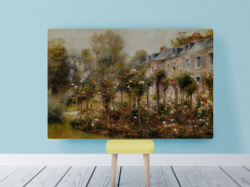 renoir,O Jardim de Rosas em Wargemont,quadro,poster,gravura,replica,reprodução,canvas,fototela,tela,pintura