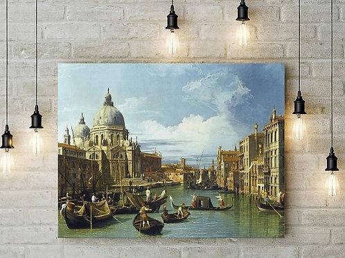 Canaletto, A,Entrada para,o, Grande Canal, em Veneza, veneza, quadro, poster, reprodução, réplica, canvas, gravura, releitura