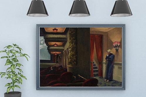 Edward Hopper,New York Movie,cinema,nova York,quadro,amamentando,poster,replica,gravura,canvas,reprodução,tela,giclee,releitu