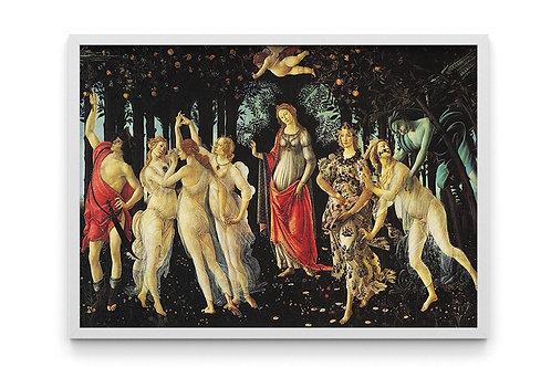 sandro, botticelli, primavera, quadro, poster, replica, gravura, reprodução, canvas, tela