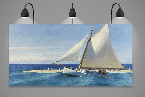 Edward Hopper, Mar,quadro, poster, réplica, gravura, reprodução, canvas, tela, fototela, foto, tela,pintura