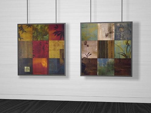conjunto de quadros, quadriculado, tela decorativa, minimalista, quadriculado, decorativo, quadro, poster, gravura, canvas