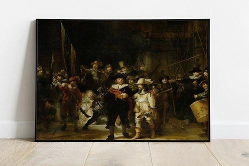rembrandt, Ronda Noturna, quadro, canvas,poster,replica,gravura,reprodução,fototela,tela,pintura,fine art