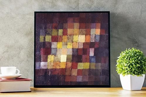 Paul Klee, Harmonia Antiga, Ancient Harmony, Ancient sound, quadro, poster, gravura, canvas, replica,reprodução,fototela