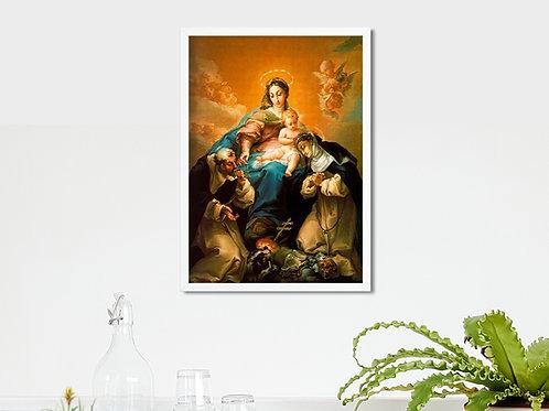 Madona do Rosário de Pompéia,quadro,canvas,poster,replica,gravura,reprodução,tela,pintura,giclee,