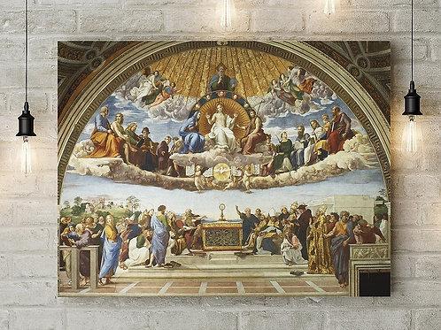 Rafael Sanzio,Rafael,Disputa do Sacramento,quadro, canvas,poster,replica,gravura,reprodução,fototela,tela,pintura,fine art