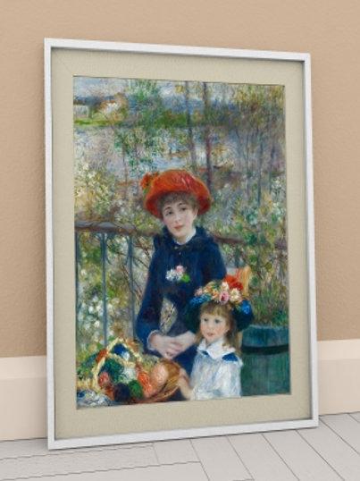 Renoir, Duas Irmãs no Terraço, Two Sisters, On the Terrace, quadro, poster, gravura, replica, reprodução, canvas