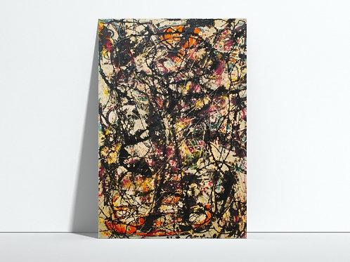 Pollock,Estrela Fugaz,estrela Cadente,quadro,poster,gravura,replica,reprodução,canvas,fototela,tela,pintura,releitura