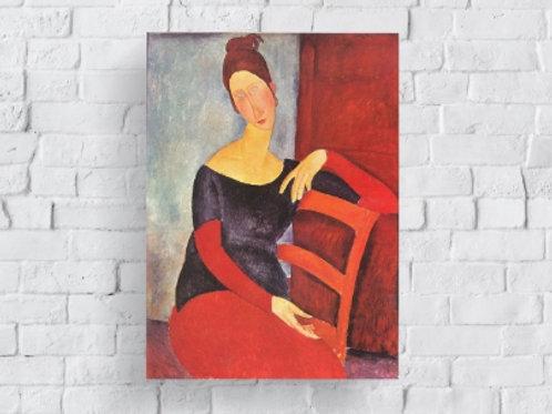 Amedeo, Modigliani, Retrato de Jeanne Hebuterne, quadro, poster, gravura, réplica, reprodução, canvas, tela, pintura