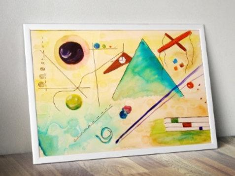 wassily Kandinsky Mimic, mimico, poster, gravura, reprodução, canvas, replica, releitura
