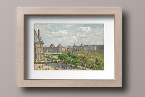 Pissarro,Praça do Carrossel, Paris,quadro,poster,gravura,canvas,replica,reprodução,fototela,tela,pintura