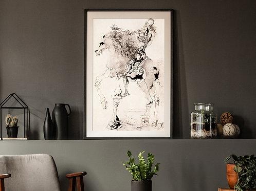 Salvador Dalí,Death Knight,cavaleiro,morte,quadro,reprodução,poster,canvas,gravura,replica,fototela,tela,pintura,releitura