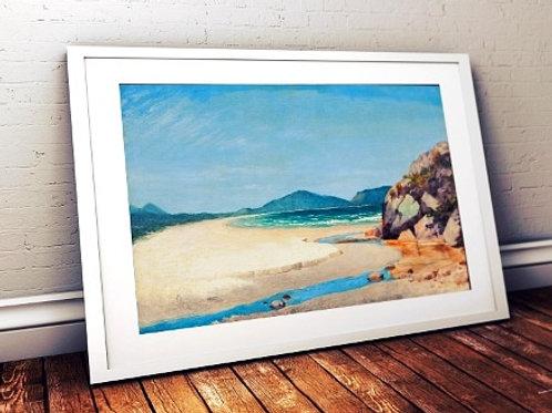 Almeida Júnior, Vista do mar no Guarujá, quadro, poster, gravura, replica, canvas, reprodução, tela, releitura