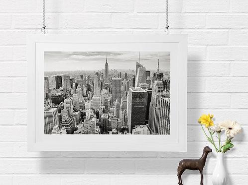Fotografia,Manhattan,Empire State,Nova York,Preto e Branco,quadro,canvas,poster,replica,gravura,reprodução,fototela,tel